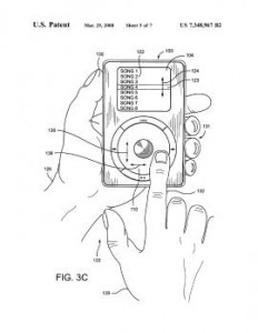 apple ipod click wheel patent
