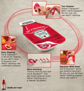 heinz ketchup dip and squeeze package